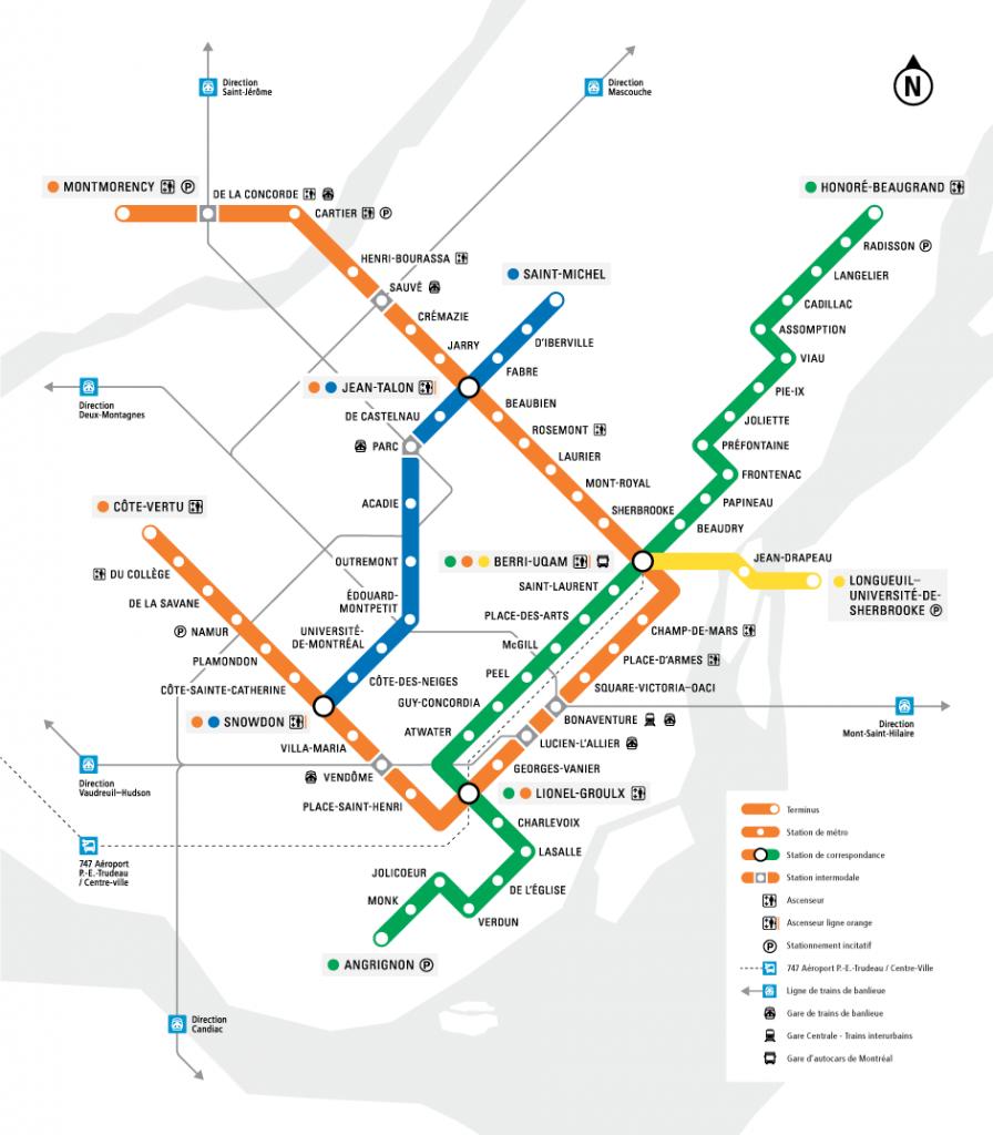 Montreal's Metro Map